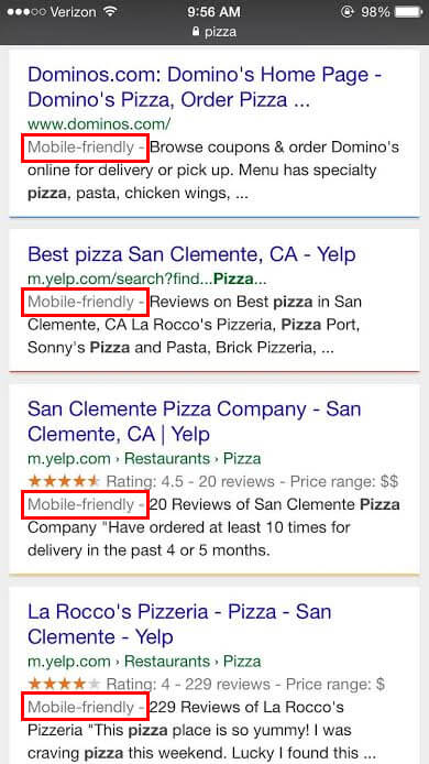 Google Algorithm Update - Pizza