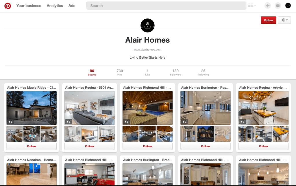 Pinterest for Home Builders